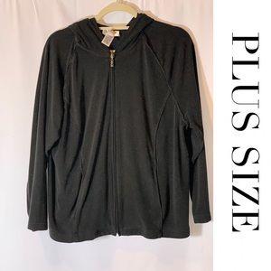 PLUS SIZE Talbots Hooded Long Sleeve Sweatshirt